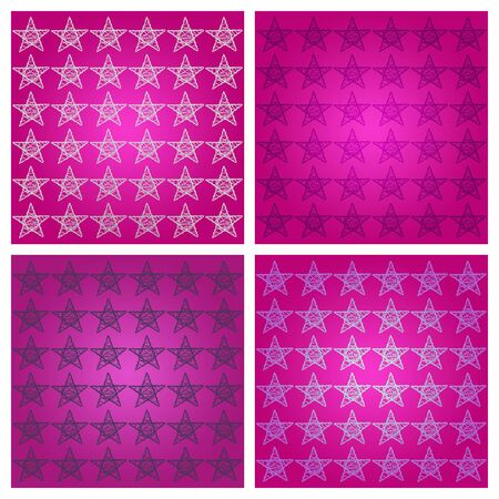 femenine: Powerful party pink and purple backgrounds with stars