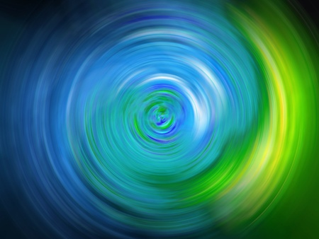 Abstract weirl blurred background in cian blue and light green photo