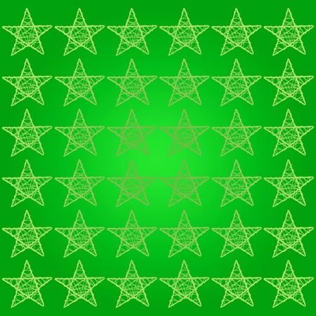 Green starry square background photo