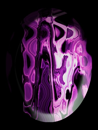 spherized: Rhodochrosite stone, jewelry, cabochon, pink purple, illustration