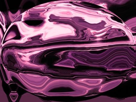 spherized: Dark rhodochrosite spherical oval background with metallic effect Stock Photo