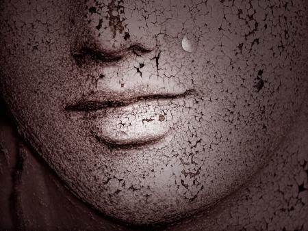 Les femmes pleurent, se déchirer en baisse, les émotions, la solitude, l'âge, le temps Banque d'images - 13617162