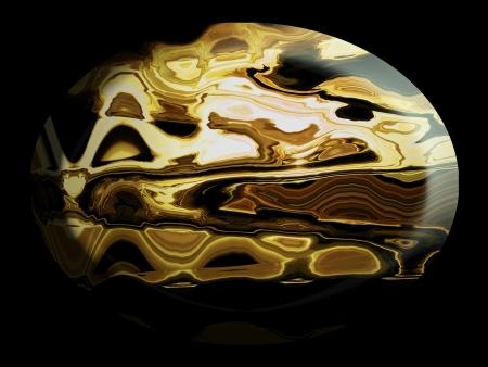 cabochon: Brown jasper texture di pietra tagliato e lucidato in forma cabochon