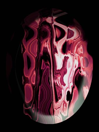 spherized: Rhodochrosite cabochon in black, natural stones cabochons textures