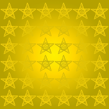 Yellow square backdrop with five points stars pattern photo