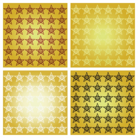 Golden backgrounds in mosaic with stars photo
