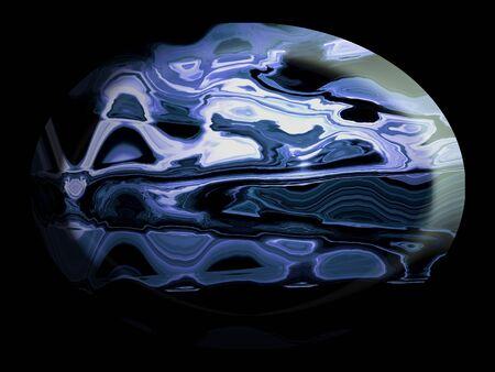 spherized: Blue jasper stone on black background Stock Photo