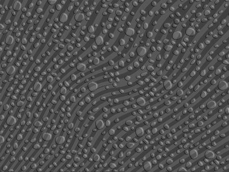 Dark grey striped background with dew drops Stock Photo - 13617187
