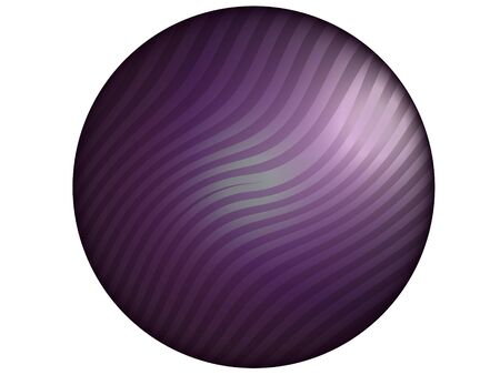 purpleish: Violet satin button with zebra pattern isolated on white