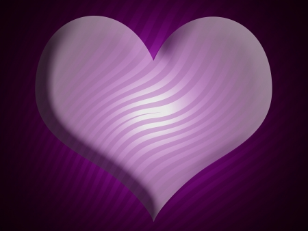 Satin, heart, romance, purple, feelings photo