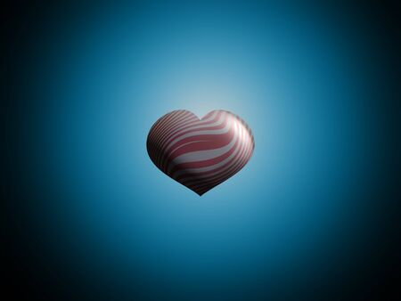 Metallic zebra striped in silver and red balloon floating over the blue sky photo