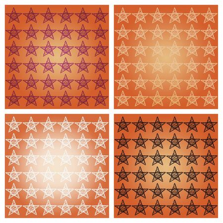 subtlety: Orange brown starry backgrounds mosaic