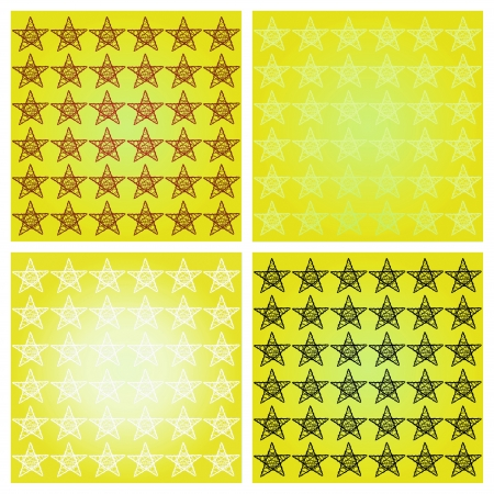 Bright yellos backgrounds with stars photo