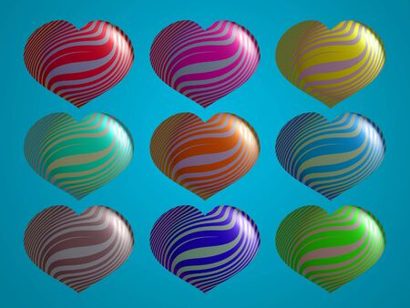 Fanciful metallized 3d balloons in variety of colors Stock Photo - 13617230