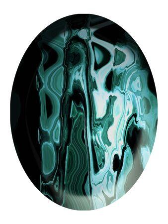 cabochon: Verde elegante pietra di diaspro cabochon verticale isolato su bianco