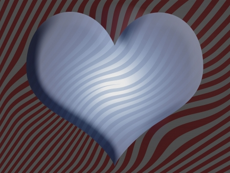 Blue, heart, hearts, romance, backgrounds, 3d photo