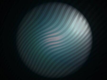 Greenish cian satin circle with zebra stripes in the darkness Stock Photo - 13617249