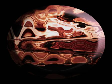 spherized: Agate, agates, stone, stones, cabochon, cabochons, oval, ovals Stock Photo