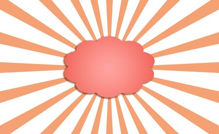 Powerful orange cloud for dream with energetic rays on white background Stock Photo - 13617261
