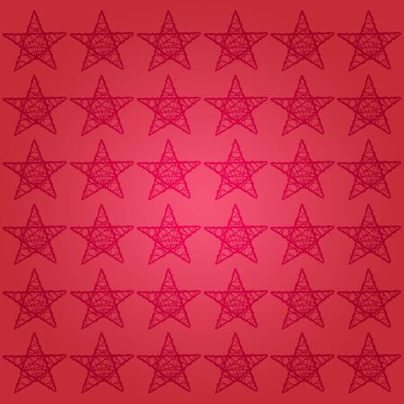Red xmas background with stars in a pattern square photo