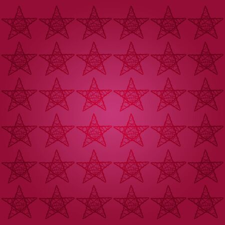 Cherry red starry square Christmas background photo