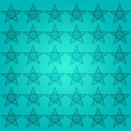 Turquoise and blue background with stars of five points photo