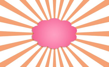 Pink cloud of dreams with orange rays isolated on white Stock Photo - 13617256