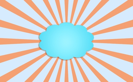 contrasting: Blue cloud covering the sun surrounded by its rays in the sky Stock Photo