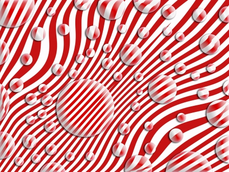 Bubbles over striped background in red and white stripes Stock Photo - 13605138
