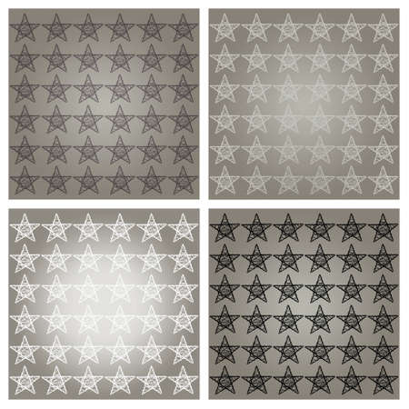 Silver backgrounds with protective xmas stars in white, grey and black photo