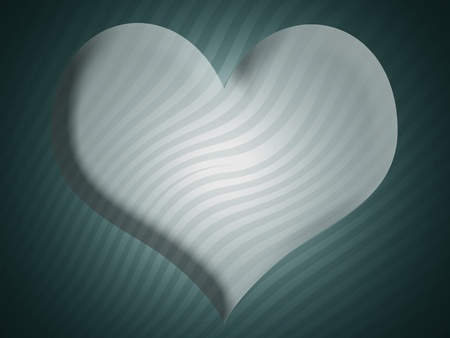 Sober background with 3d heart shape in blues photo