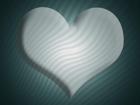 sobrio: Sober de fondo con forma de coraz�n en 3D en el blues Foto de archivo
