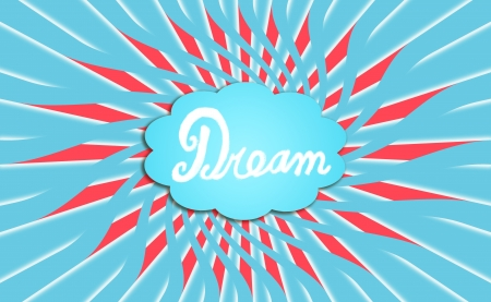 expansion card: Turquoise blue cloud of a dream radiating energy Stock Photo