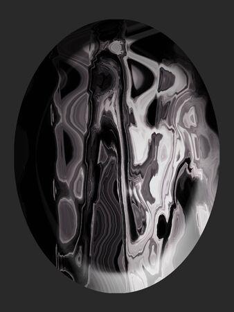 spherized: Grey jasper stone with oval shape