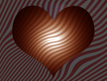 Sober striped background with a heart shape photo