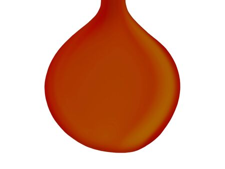 liquid x: Oil drop falling isolated on white background