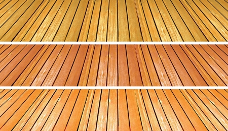 Yellow and orange warm old wood floors textures in perspective Stock Photo - 13720295