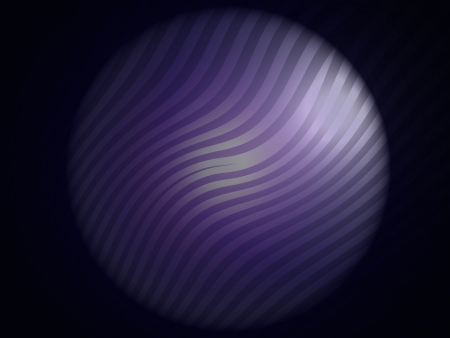 metallized: Blue and silver metallized striped circle over black background