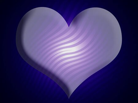 Blue 3d heart background with zebra striped pattern photo