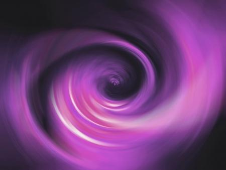 Purple swirl blur tunnel over black background photo
