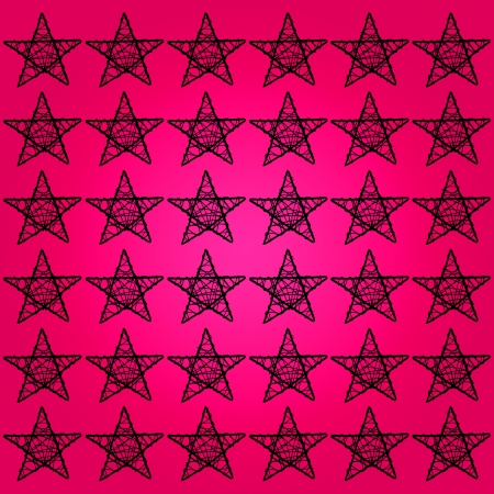 Black stars of five points over brilliant femenine pink background photo