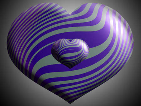 Two sizes couple of metallic balloons in silver and violet purple Stock Photo - 13720328