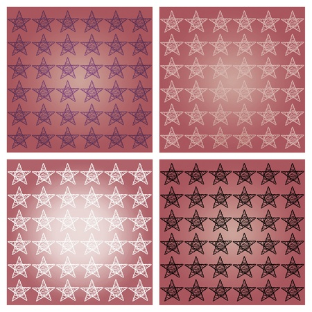 delicated: Pink redish stars backgrounds set