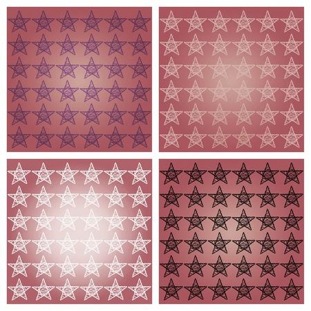 redish: Pink redish stars backgrounds set