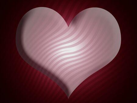 Heart, shape, shapes, love, background, striped, redish photo