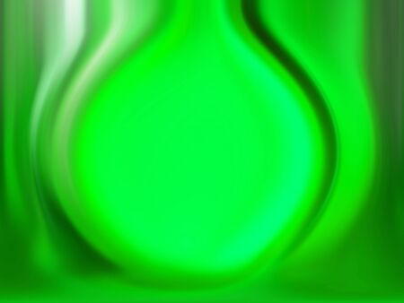 Fluorescent luminous green matrix in blurred abstract background photo
