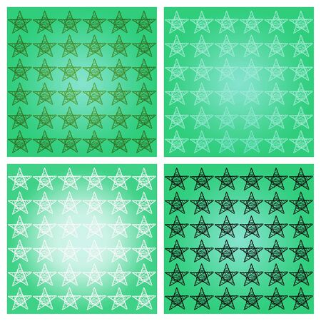 Aqua green backgrounds with five points stars photo