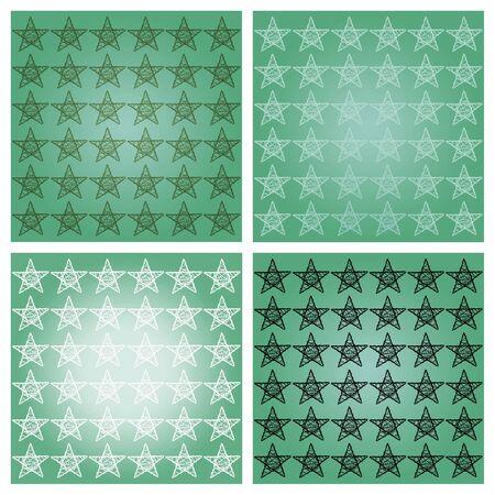 sobrio: Sober verdes cuatro estrellas estrelladas con fondos blanco y negro