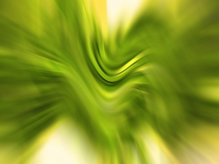 Green soft blurs in abstract horizontal background photo