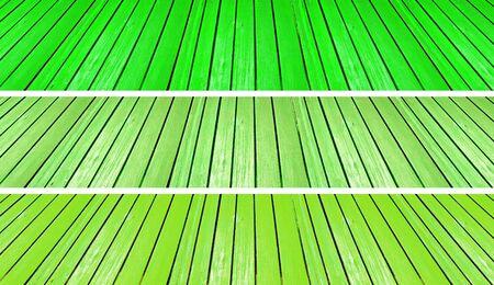 scenarios: Three light brilliant green old wood floors backgrounds